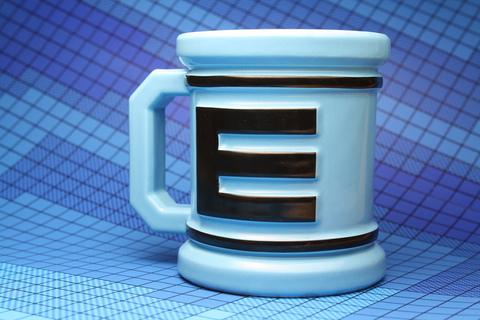Mega Man Coffee Cup Close-Up