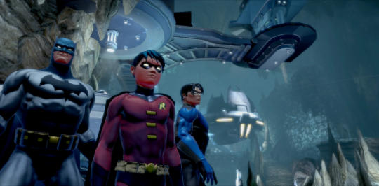 Batman Nightwing and Robin from DC Universe Online