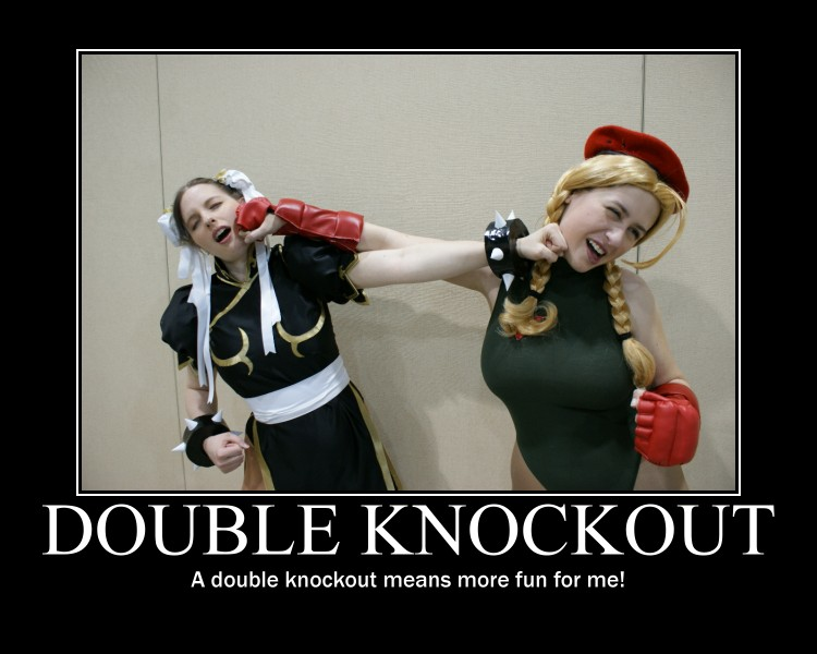 Fappathon Double Knockout motivational poster