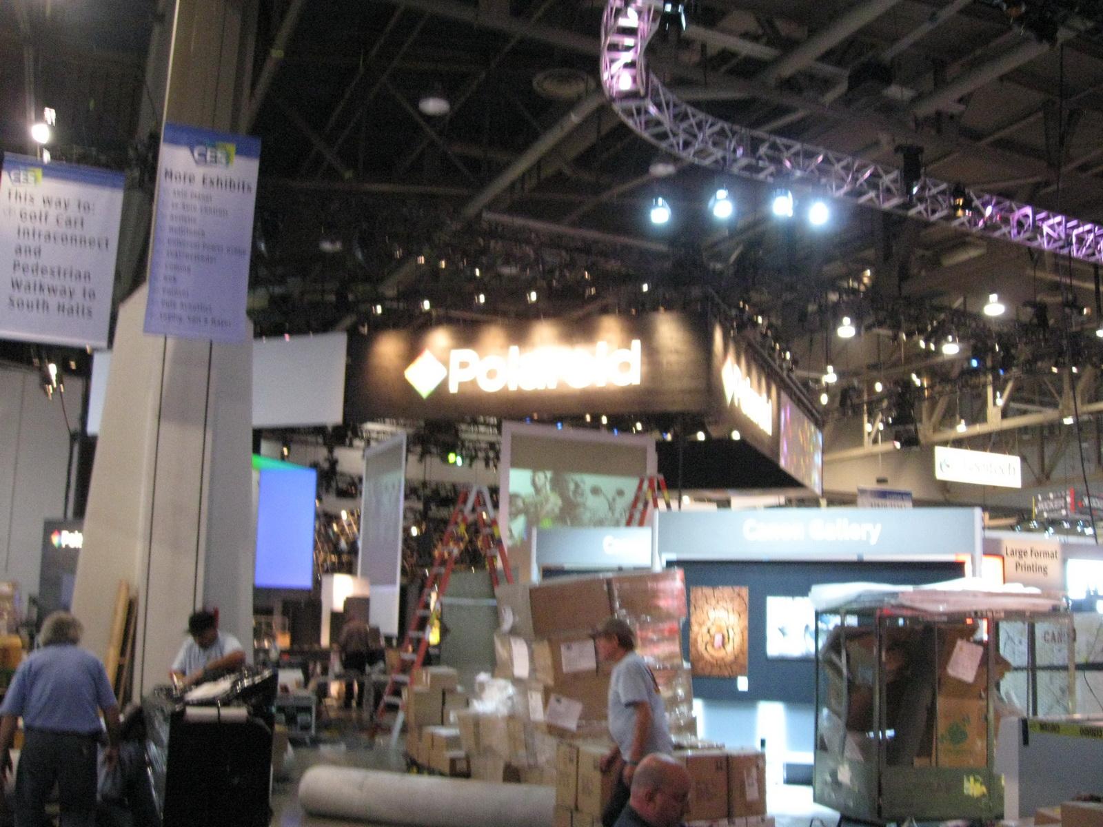 CES 2011 pre show setup