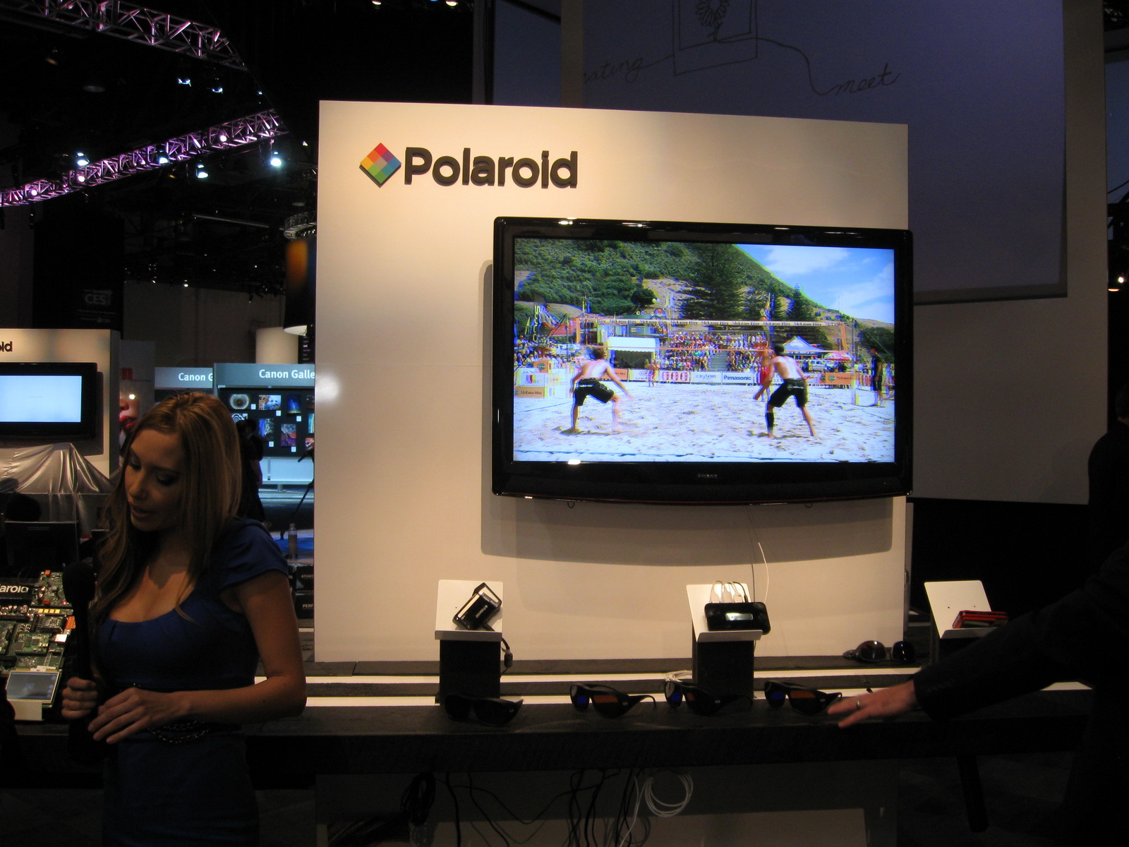 Polaroid booth at CES 2011