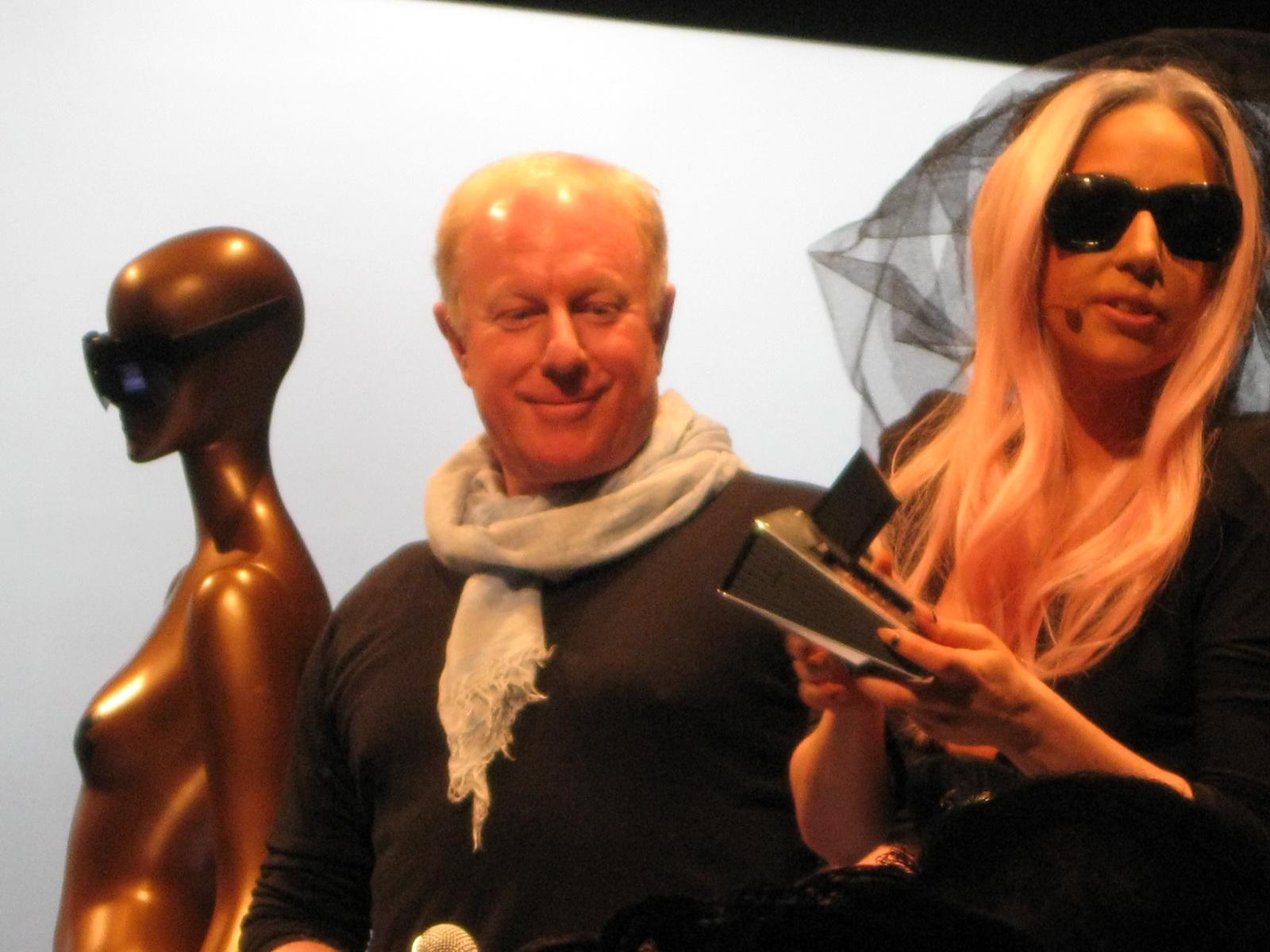 Lady Gaga at Polaroid Booth CES 2011