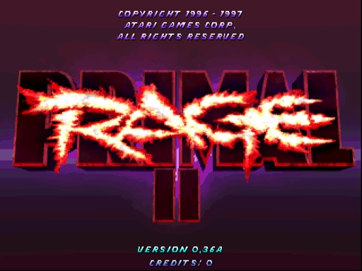 Primal Rage 2 Title Screen