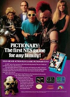 Pictionary NES ad