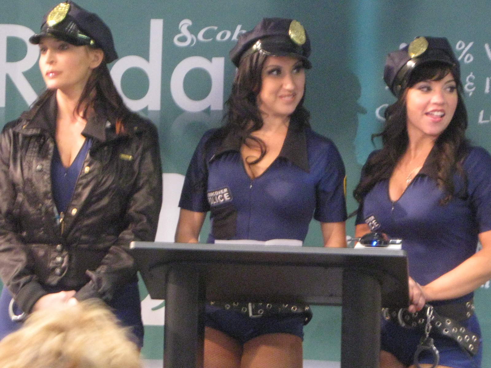 Lady Cop Booth Babes at CES 2011