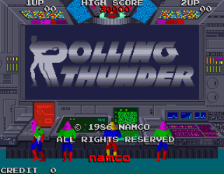 Rolling Thunder - Arcade Gameplay Screenshot