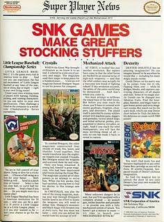 SNK Video Games Ad