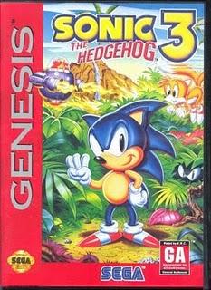Sonic 3 - Sega Genesis Box
