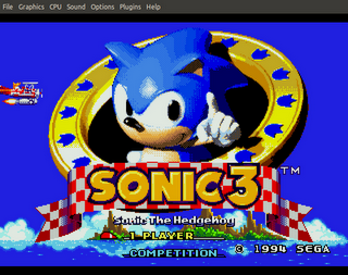 Sonic 3 - Title Screenshot