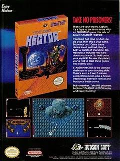 Starship Hector NES ad