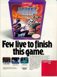 Street Fighter 2010 NES ad