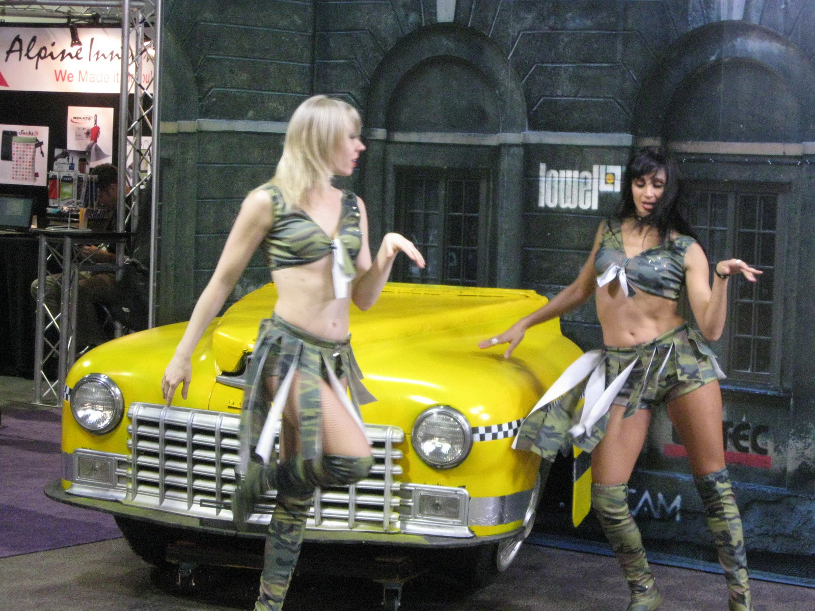 Taxi Cab Booth Babe Dancers