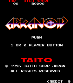 Arkanoid - Arcade - Gameplay Screenshot
