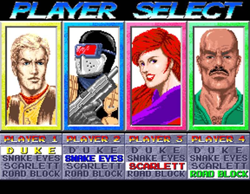 G.I. Joe Arcade Screenshot Character Select
