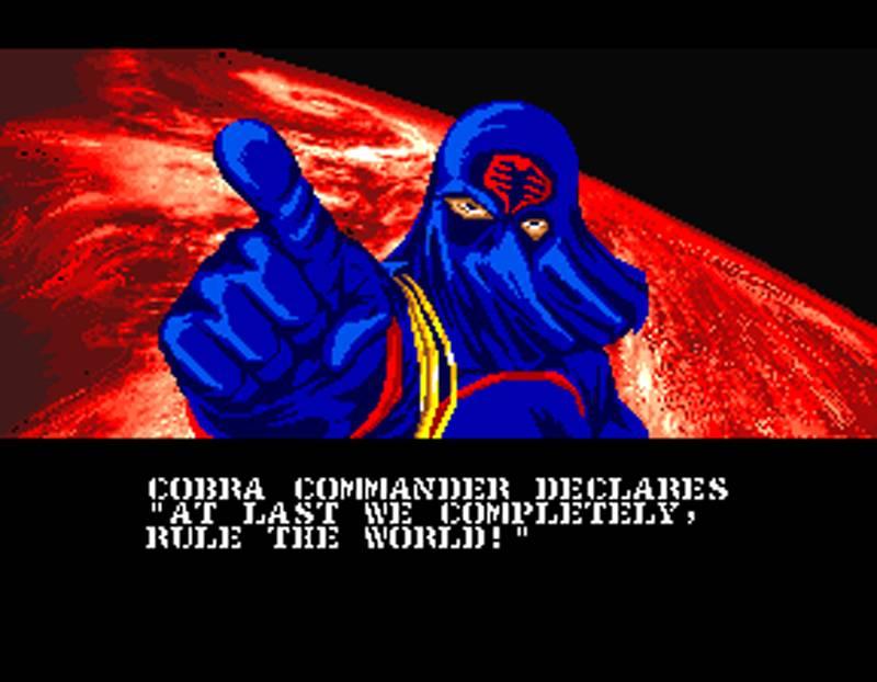 G.I. Joe Arcade Screenshot Cobra Commander