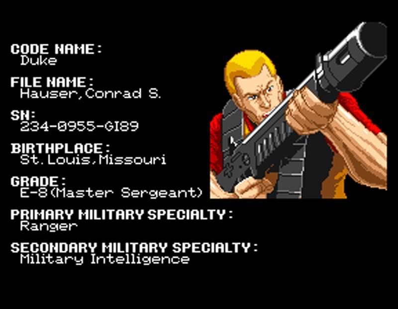 G.I. Joe Arcade Screenshot Duke