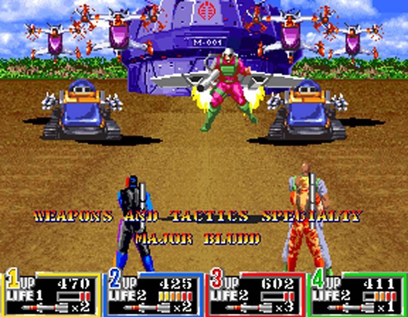 G.I. Joe Arcade Screenshot Major Bludd