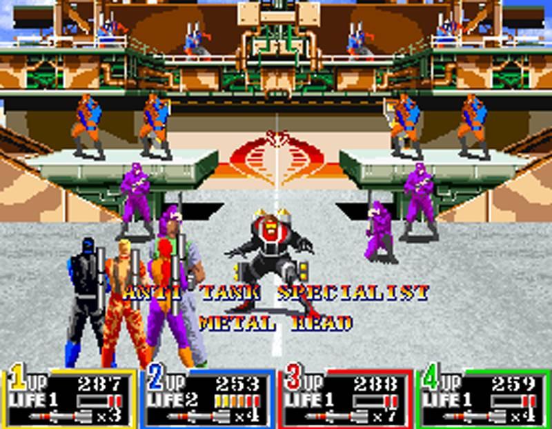 G.I. Joe Arcade Screenshot Metal Head