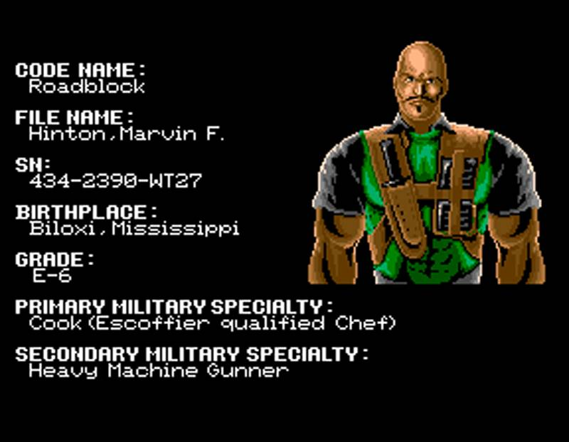 G.I. Joe Arcade Screenshot Roadblock