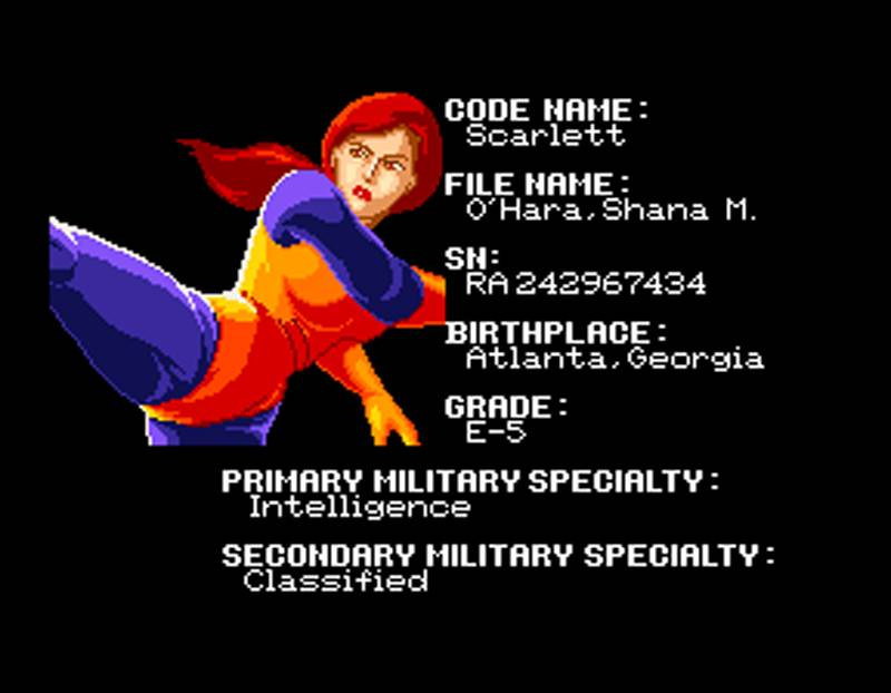 G.I. Joe Arcade Screenshot Scarlett