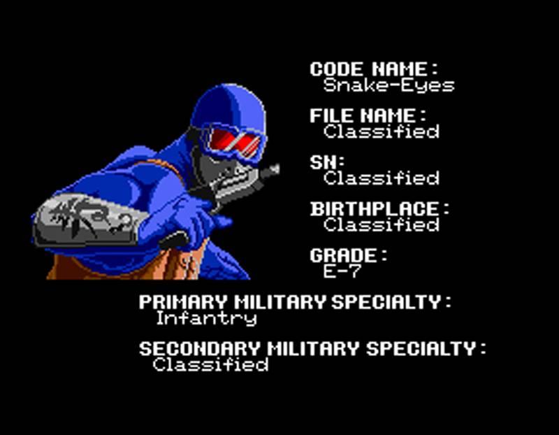 G.I. Joe Arcade Screenshot Snake Eyes