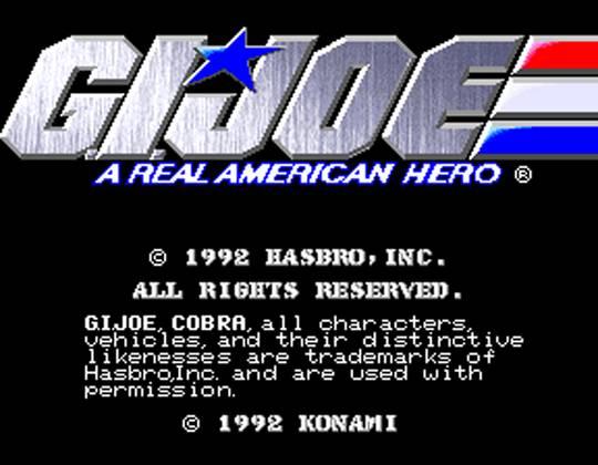 G.I. Joe Arcade Screenshot - Title Screen