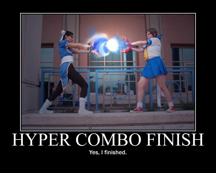 Hyper Combo Finsh Motivational Poster