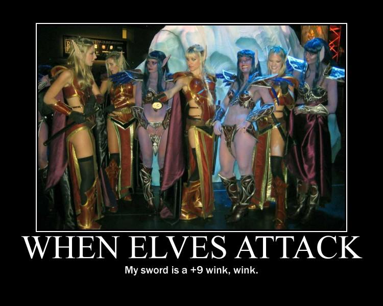 Motivational Poster - When Elves Attack