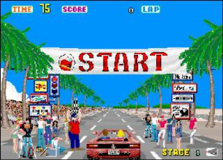 OutRun game Start screen