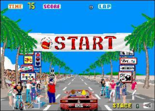OutRun game Start screen