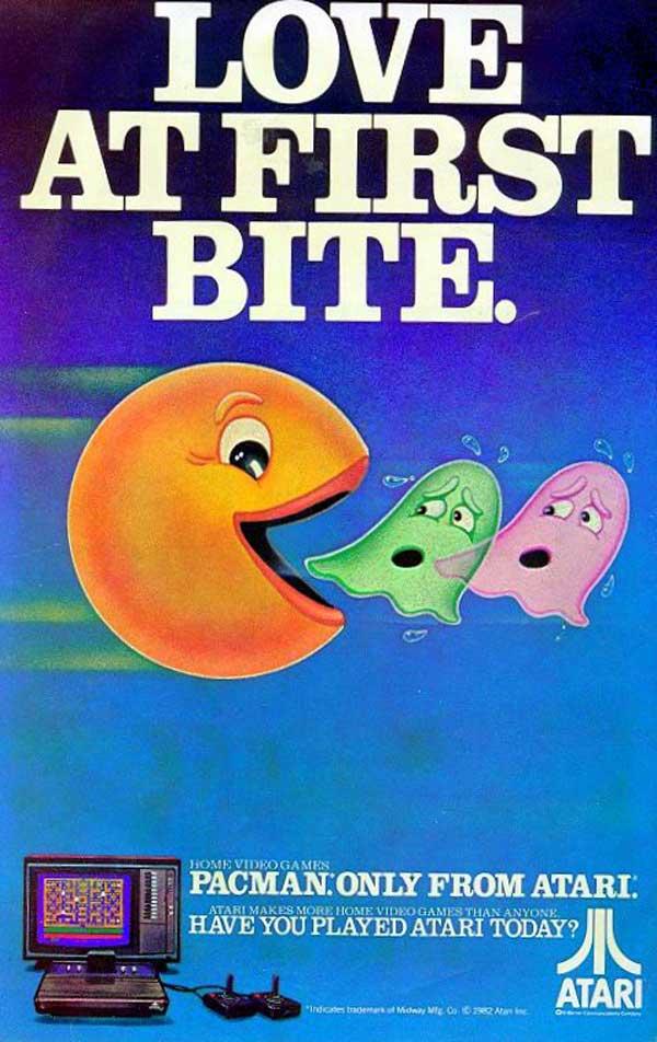 Pac Man Atari ad