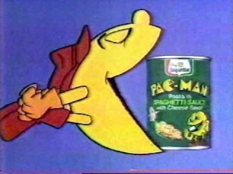 Pac Man Spaghetti Sauce Ad