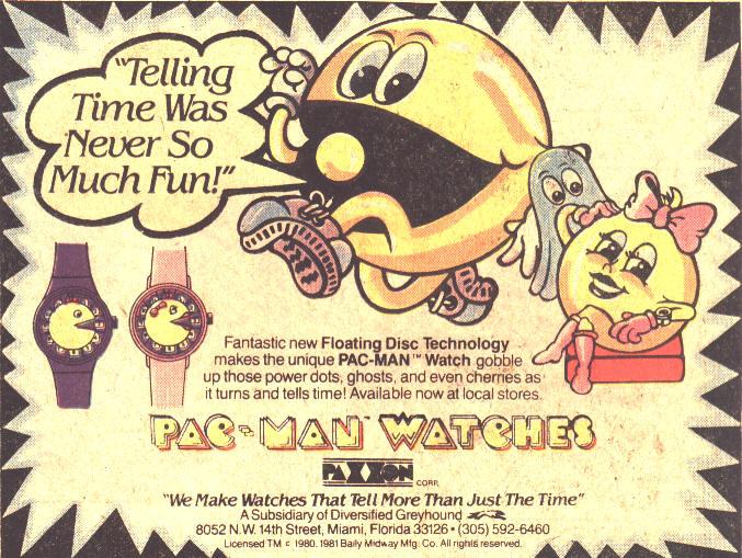 Pac Man Watch ad