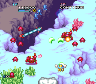 Pop n Twin Bee - Gameplay Screenshot