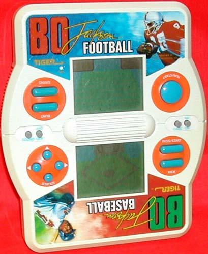 Tiger Electronics Handheld Bo Jackson Football and Baseball
