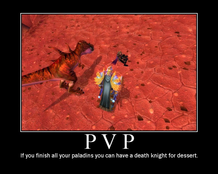 World of Warcraft PVP motivational poster