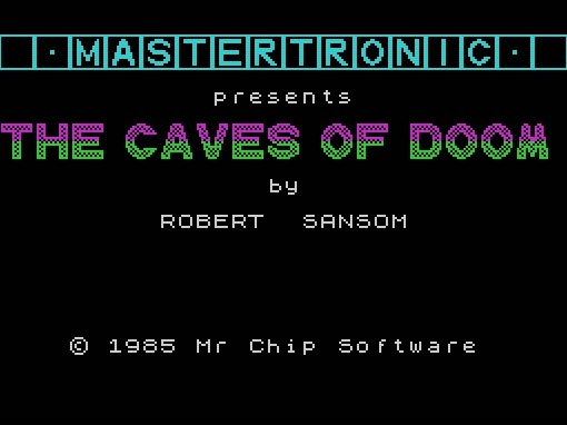 Caves of Doom title