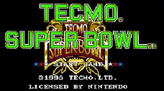 Tecmo Super Bowl logo - title screen