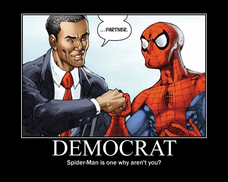 Spiderman and Obama - Motivational Poster