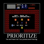 prioritize zelda - Motivational Poster