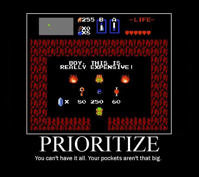 prioritize zelda - Motivational Poster