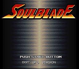 Soul Blade - Title Screen
