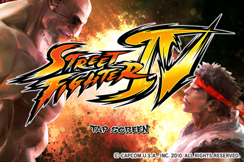 Street Fighter Iphone App - Title Screen