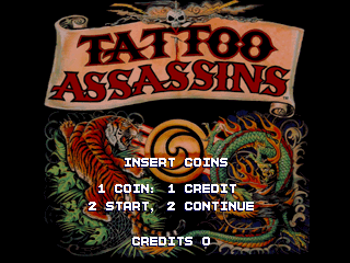 Tattoo Assassins - Title Screen