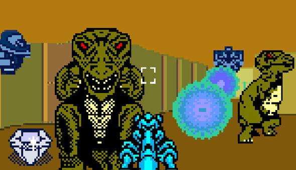 Tyrannosaurus Tex - Gameboy Color - Gameplay Screenshot