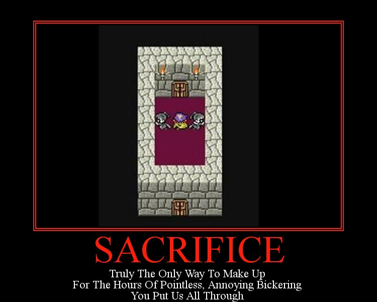 sacrifice final fantasy - Motivational Poster