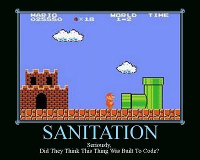 sanitation mario - Motivational Poster