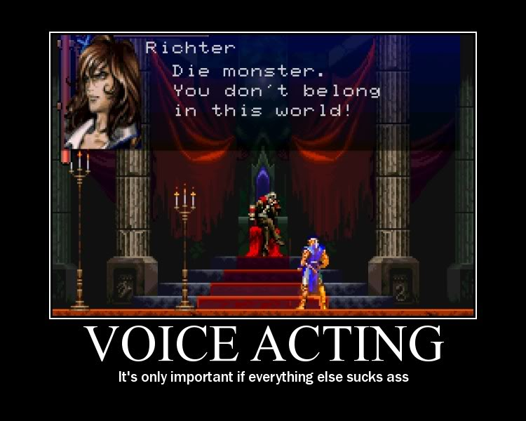 voice acting - Motivational Poster