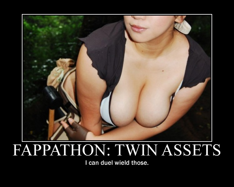 Fappathon - Twin assets - motivational poster