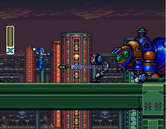 Megaman x gameplay screenshot